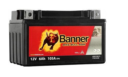 Акумулатор BANNER BIKE Bull AGM 506 15 / YTX7A-BS