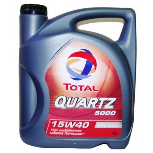 TOTAL QUARTZ  5000 15W40 x4L