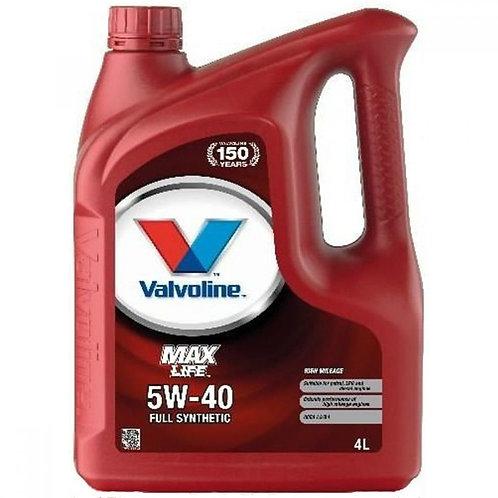 VALVOLINE MAXLIFE 5W40 x4L