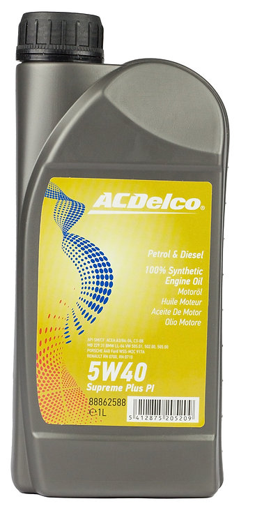 ACDelco 5W40 Supreme Plus PI X1L