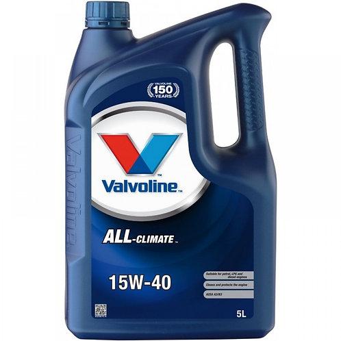 VALVOLINE ALL CLIMATE 15W40 x5L
