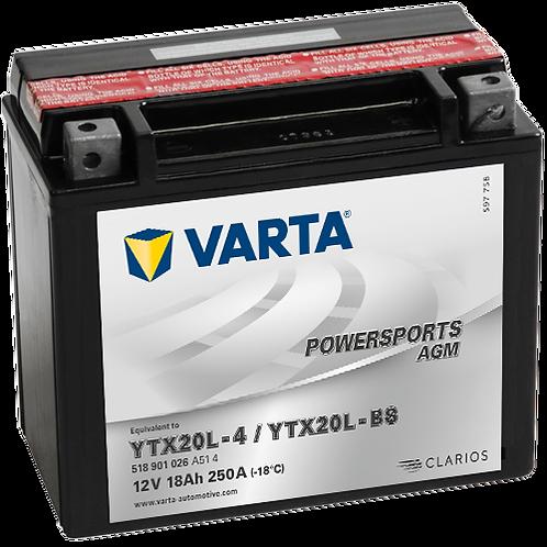 Акумулатор VARTA POWERSPORTS AGM 518 901 026 YTX20L-BS
