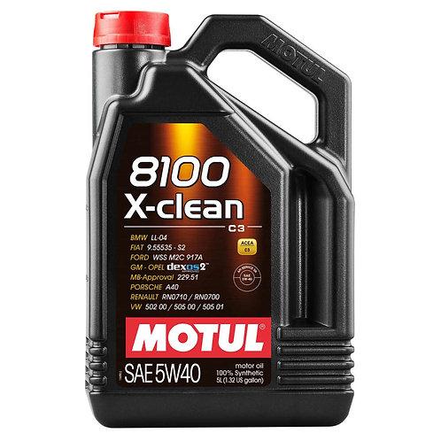 MOTUL 8100 X-CLEAN 5W40 C3 x5L