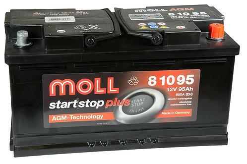 Акумулатор MOLL Start-Stop Plus AGM 81095