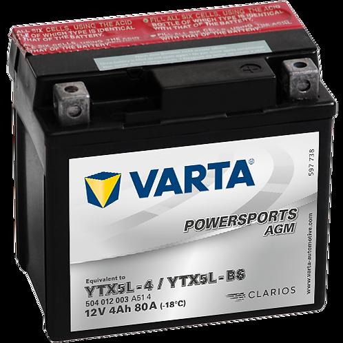 Акумулатор VARTA POWERSPORTS AGM 504 012 003 YTX5L-BS