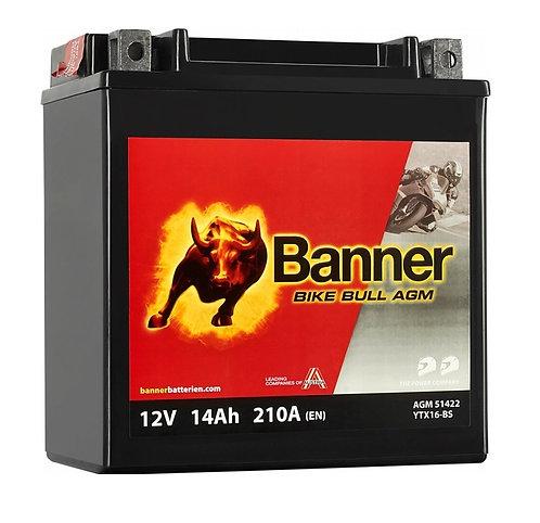 Акумулатор BANNER BIKE Bull AGM 514 22 / YTX16-BS