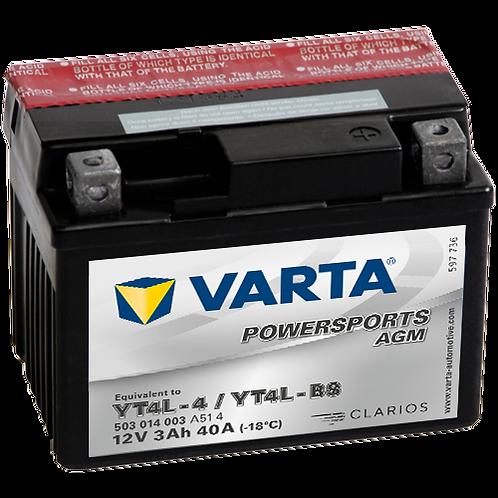 Акумулатор VARTA POWERSPORTS AGM 503 014 003 YT4L-BS