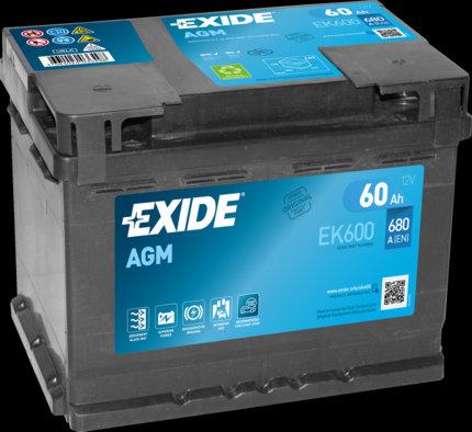 Акумулатор EXIDE Start-Stop AGM EK600