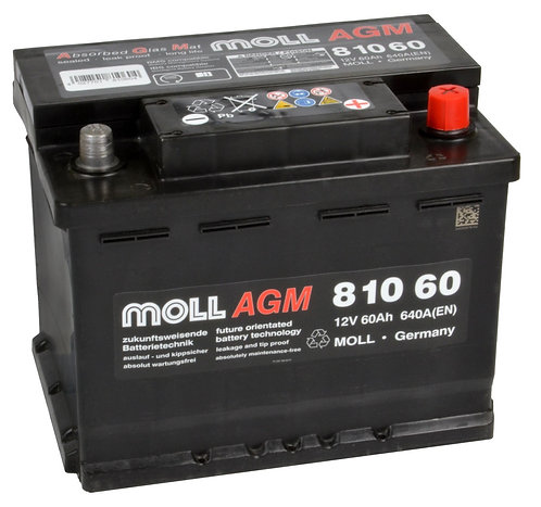 Акумулатор MOLL Start-Stop Plus AGM 81060