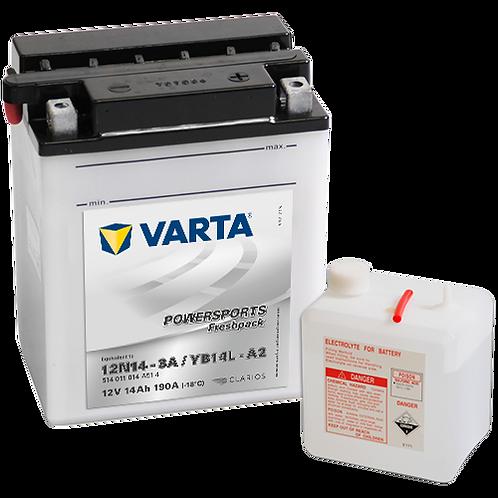 Акумулатор VARTA POWERSPORTS Freshpack 514 011 014 YB14L-A2