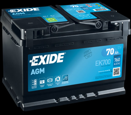 Акумулатор EXIDE Start-Stop AGM EK700