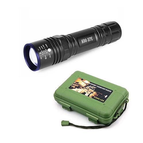 Тактический LED фонарь с креплением | K00-XPE