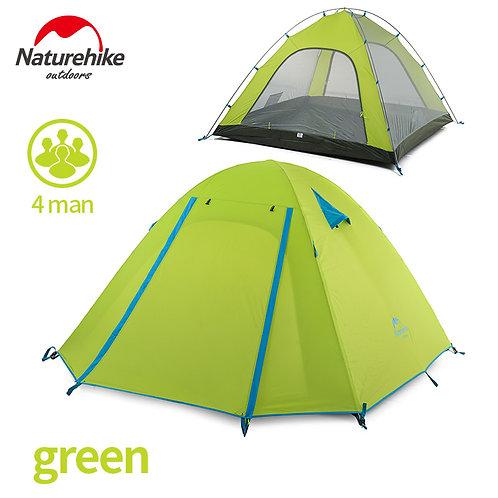 Палатка четырехместная NATUREHIKE | P-Series зеленый