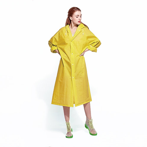Дождевик уплотненный   желтый