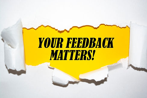 Text sign showing Your Feedback Matters.jpg