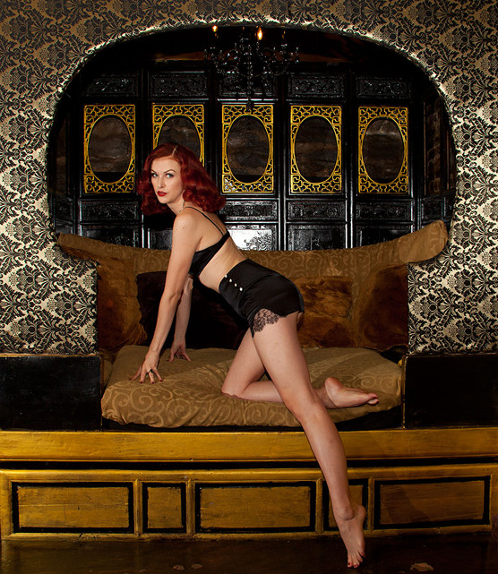 Bettina May in Lady Jane Lingerie