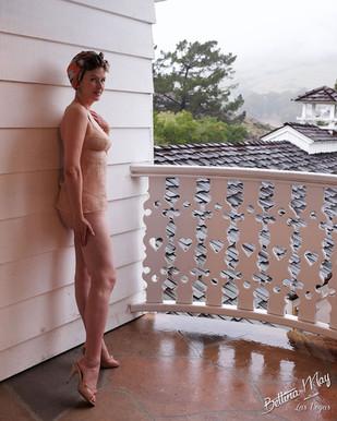Bettina May is On The Balcony
