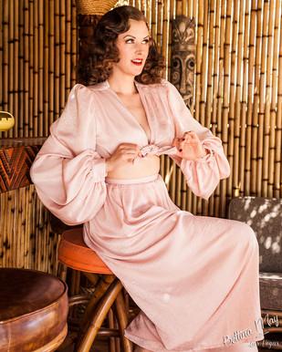 Bettina May in Pink Pajamas