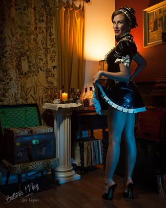 Bettina May as the Latex Maid