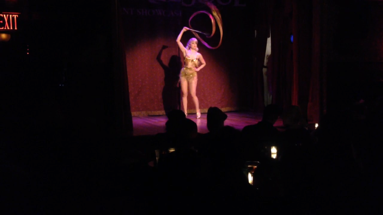 Burlesque with ribbon dancing? A girl after my own heart!