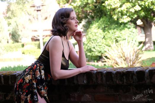 Bettina May in Garden Glamour