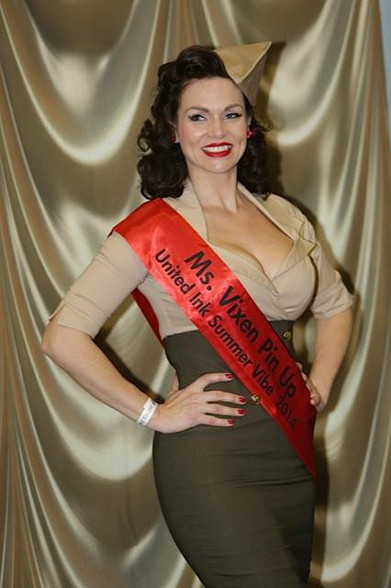 Since taking the class, Veronica has gone on to place in 2 pin-up contests, winning Ms. Vixen Pin-Up 2014! Congrats!