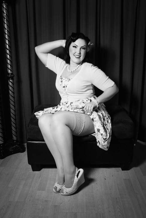 Corinne in her first pin-up class