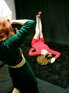 Behind the scenes at Shay's first shoot with Bettina May.