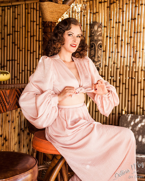 Bettina May in Pink Pajamas