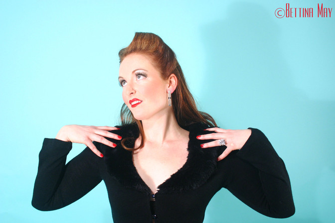 Celeste in her first Pin-Up Class with Bettina May back in 2007!