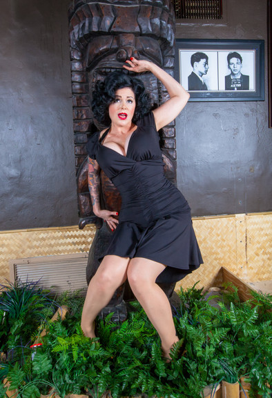 Robin's first pin-up shoot with  David Rochas of Timeless Beauty Photography at Kreepy Tiki Tattoo in Fort Lauderdale