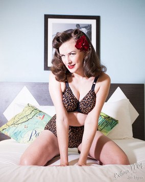 Bettina May in Leopard