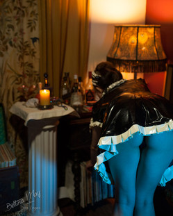 Bettina May as the Latex Maid