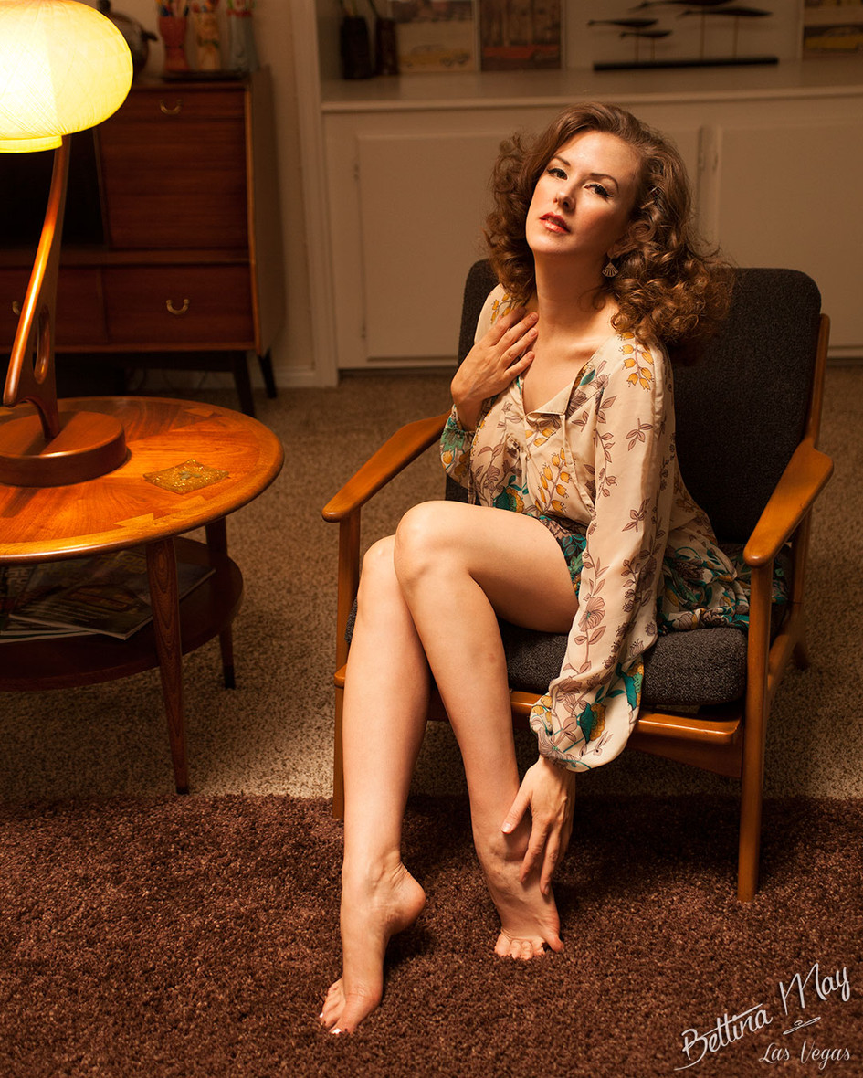 Bettina May in Living Room