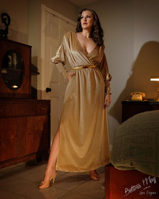 Bettina May in Golden Gown