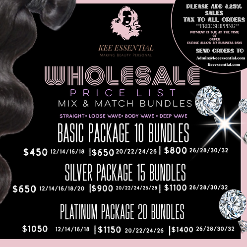 Wholesale Bundle Packages