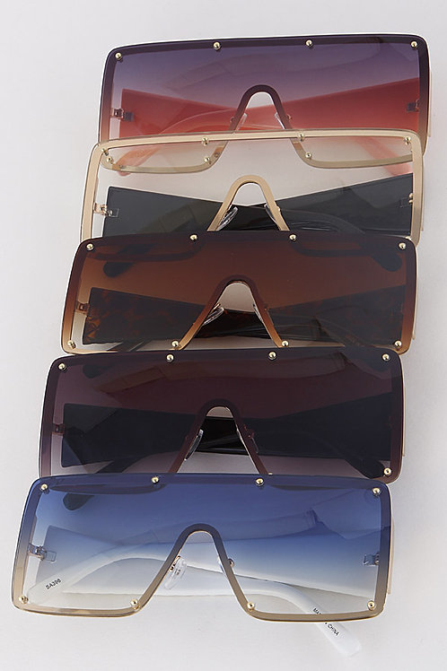 Multicolored Rectangle Sunglasses