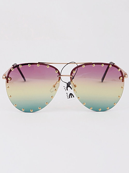 Multi Color Aviator Sunglasses