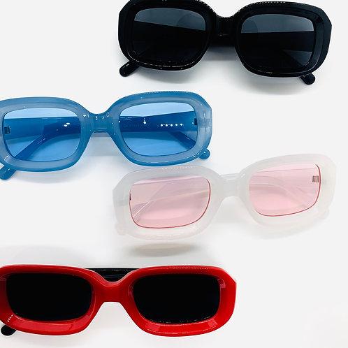 Tinted Transparent Rim Sunglasses