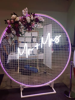 iFlash Photo Booth Backdrop Neon Sign