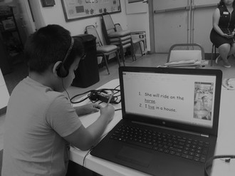 Mark works with his virtual reading grou