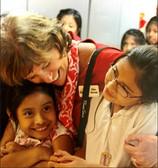 Ellen Nichols with Students