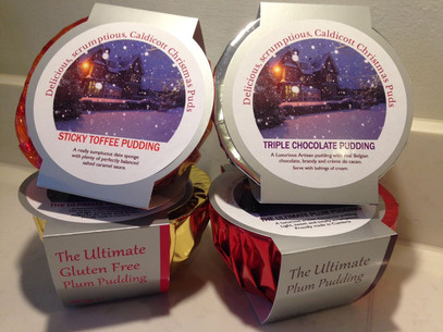 Caldicott Christmas Puddings - pre order now, £7, collect at the market