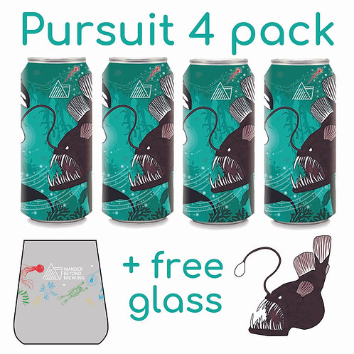 Pursuit 4 Pack + Free Glass