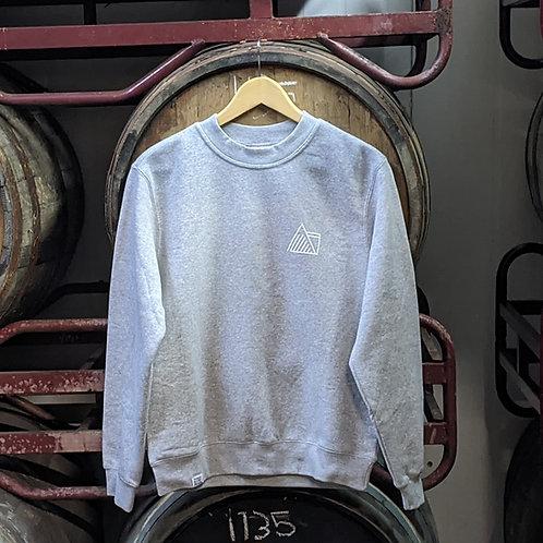 Heather Grey Sweatshirt - Leaf Logo