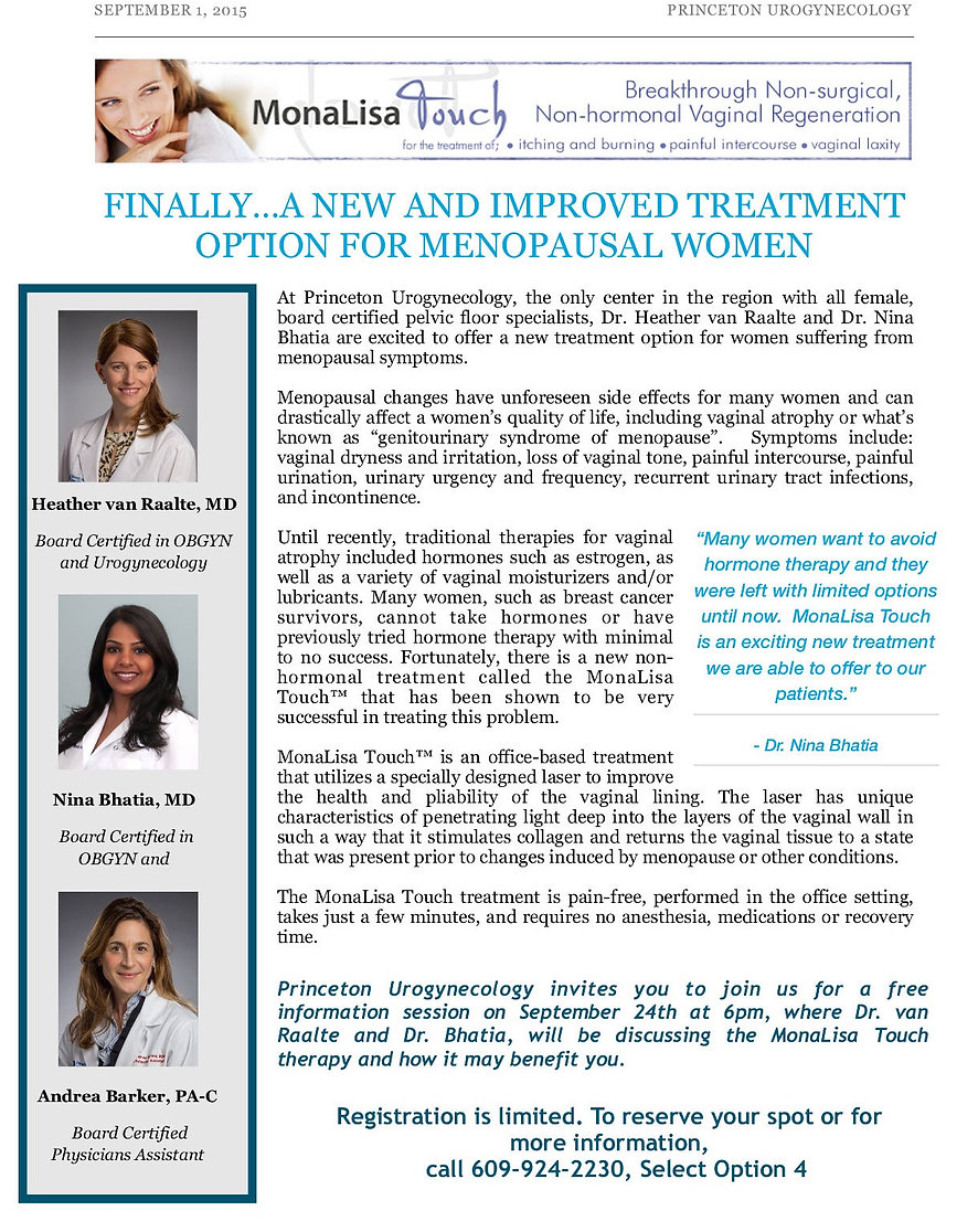 MonaLisa Therapy | Princeton Urogynecology