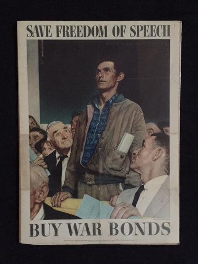 SOLD: SAVE FREEDOM OF SPEECH. BUY WAR BONDS