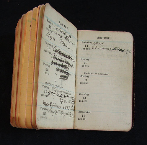 DIARY CARRIED BY DOUGHBOY BEFORE BEING KILLED
