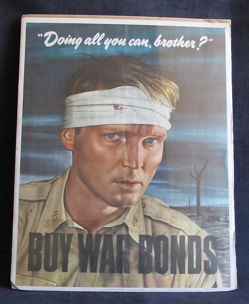 Doing all you can, brother? BUY WAR BONDS