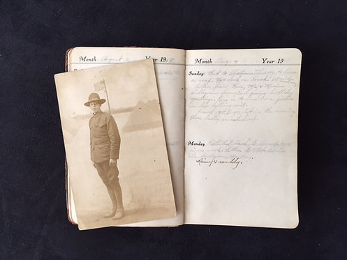 WWI American Engineer's Diary and Personal Items